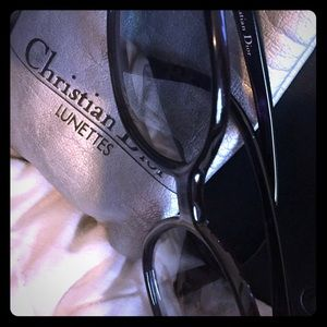Christian Dior purple sunglasses.